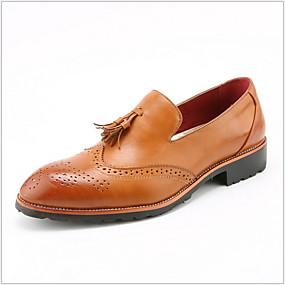 baratos Sapatilhas e Mocassins Masculinos-Homens Sapatos Confortáveis Couro Ecológico Verão Mocassins e Slip-Ons Respirável Preto / Amarelo / Vinho
