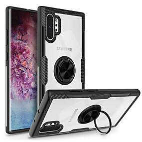 halpa Puhelimen kuoret-Etui Käyttötarkoitus Samsung Galaxy Note 9 / Galaxy Note 10 / Galaxy Note 10 Plus Sormuksen pidike Takakuori Läpinäkyvä TPU / PC / Metalli