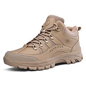hesapli Erkek Atletik Ayakkabıları-Erkek Ayakkabı Tüylü Sonbahar / Sonbahar Kış Sportif / Günlük Atletik Ayakkabılar Koşu / Dağ Yürüyüşü Günlük için Siyah / Haki