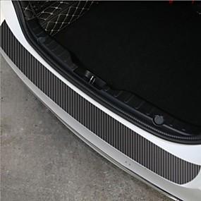 abordables 70%OFF-60x6.7cm autocollants de voiture universels porte seuil pantoufle anti-rayures autocollants auto-adhésifs en fibre de carbone