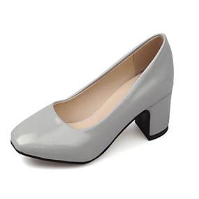voordelige Damesinstappers & loafers-Dames Loafers & Slip-Ons Blokhak Vierkante Teen Lakleer Zoet Lente zomer Zwart / Rood / Roze
