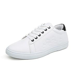 baratos Tênis Masculino-Homens Sapatos Confortáveis Microfibra Primavera Verão Colegial Tênis Use prova Branco e Preto / Branco e Verde