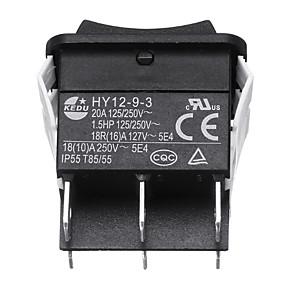 billige Nyankomne i september-kedu hy12-9-3 6pins industriell elektrisk vippebryter 125v trykknappbrytere