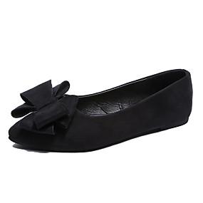 voordelige Damesschoenen met platte hak-Dames Platte schoenen Platte hak Gepuntte Teen Strik Rubber / PU Brits Wandelen Lente zomer Zwart / Wijn / Groen