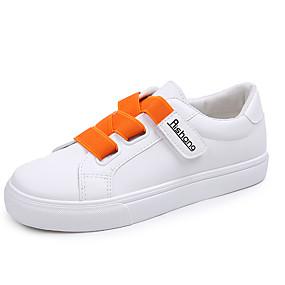 voordelige Damessneakers-Dames Sneakers Platte hak PU Lente & Herfst Oranje / Geel / Blauw