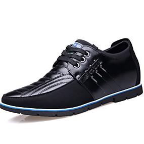 baratos Oxfords Masculinos-Homens Sapatos Confortáveis Couro Outono & inverno Oxfords Preto / Marron / Azul