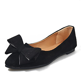 voordelige Damesschoenen met platte hak-Dames Platte schoenen Blokhak Gepuntte Teen PU Zomer Zwart / Wijn / Grijs