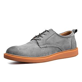 baratos Oxfords Masculinos-Homens Sapatos Confortáveis Couro Ecológico Verão Oxfords Preto / Marron / Cinzento / Ao ar livre
