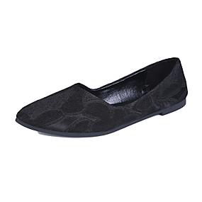 voordelige Damesschoenen met platte hak-Dames Platte schoenen Lage hak Gepuntte Teen PU Zoet / minimalisme Lente zomer / Herfst winter Zwart / Licht Groen / Beige