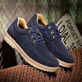 baratos Oxfords Masculinos-Homens Sapatos Confortáveis Sintéticos Primavera Verão / Outono & inverno Oxfords Preto / Azul / Marron