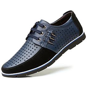 baratos Oxfords Masculinos-Homens Sapatos Confortáveis Sintéticos Primavera / Verão Oxfords Respirável Preto / Azul / Marron