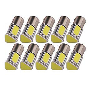 billige Nyankomne i oktober-10pcs 1156 Bil Elpærer 5 W COB 4 LED Tåkelys / Blinklys / Bremselys Til Universell Alle år