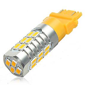 billige Nyankomne i oktober-2x 12v t25 3157 samsung 5630 led blinklys lyspære gul