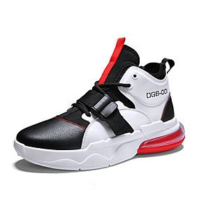 hesapli Erkek Atletik Ayakkabıları-Erkek Ayakkabı PU Bahar / Sonbahar Günlük Atletik Ayakkabılar Günlük için Siyah / Kırmızı / Siyah / Mavi