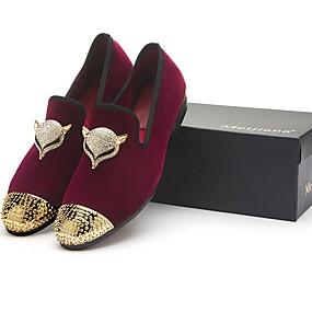 cheap Men's Slip-ons & Loafers-Men's Bullock Shoes Mesh Summer Loafers & Slip-Ons Warm Black / Red