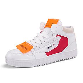 baratos Tênis Masculino-Homens Sapatos Confortáveis Couro Primavera / Outono Esportivo / Casual Tênis Estampa Colorida Preto / Branco / Vermelho