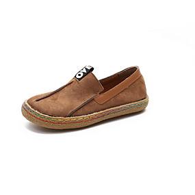 voordelige Damesinstappers & loafers-Dames Loafers & Slip-Ons Platte hak Ronde Teen PU Zomer Zwart / Donker Bruin / Groen