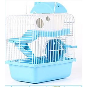 billige Tilbehør til smådyr-Mus & rotter / Hamster Plast Bur Brun / Blå / Rosa