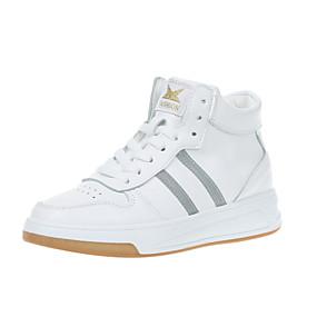 voordelige Damessneakers-Dames Sneakers Plateau Ronde Teen PU Herfst winter Zwart / Wit