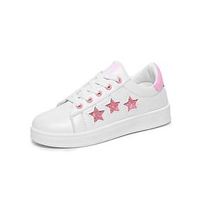 voordelige Damessneakers-Dames Sneakers Platte hak Ronde Teen Canvas Zomer Zwart / Roze / Zilver