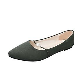 voordelige Damesinstappers & loafers-Dames Loafers & Slip-Ons Platte hak Gepuntte Teen Suède Zomer Zwart / Donker Bruin / Groen
