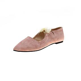 voordelige Damesschoenen met platte hak-Dames Platte schoenen Lage hak Gepuntte Teen Imitatieleer Zoet / minimalisme Lente & Herfst Zwart / Roze / Beige