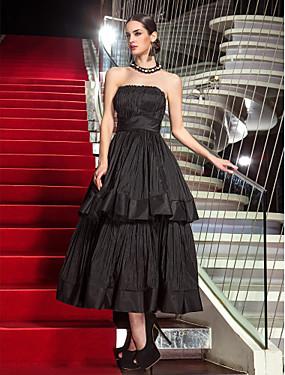 billige SALG PÅ PRØVEKJOLER-A-linje Stroppeløs Telang Taft Kjole med Plissert av TS Couture®