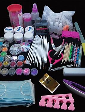 voordelige Nagelborstels-167pcs pro nail art acryl poeder uv gel tip borstel clipper tool set