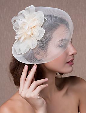 お買い得  ウェディンストア-クリスタル / ファブリック / オーガンザ - ティアラ / 魅力的な人 / フラワーズ 1 結婚式 / パーティー/フォーマル かぶと / 帽子