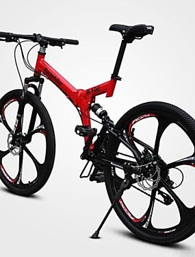 povoljno Sport és outdoor-Mountain Bike Biciklizam 21 Brzina 26 inča / 700CC Dvostruka disk kočnica Vilica s oprugom Potpuna suspenzija Običan ugljen / Aluminijska legura