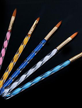 voordelige Nagelborstels-1set spiraalvormige nail art acryl pen carving kristal pen penseel pen (5pcs / set)