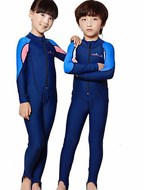 cheap Sports & Outdoors-Dive&Sail Boys' Girls' Rash Guard Dive Skin Suit 2mm Diving Suit SPF50 UV Sun Protection Quick Dry Full Body Front Zip - Swimming Diving Surfing Patchwork / Kid's