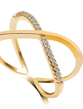 povoljno Vjenčanja i eventi-Žene crossover Band Ring Prsten Izjave Modno prstenje Jewelry Pink / Zlatan / Zlato / Pink Za Vjenčanje Party 6 / 7 / 8 / 9