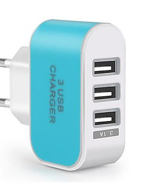 abordables Téléphones et accessoires-chargeur mural portable adaptateur de chargeur de voyage usb plug multi ports 3 ports usb 3.1a pour téléphone portable