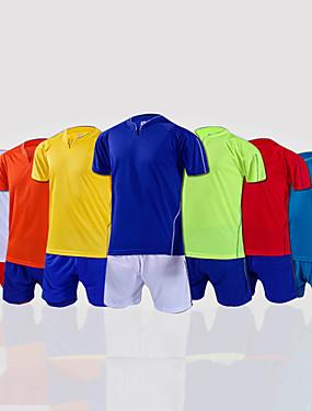 abordables Sports d'Equipe-Homme Football Shirt + Shorts Bas Ensembles de Sport Respirable Football Classique 100 % Polyester Rouge Vert Bleu / Elastique