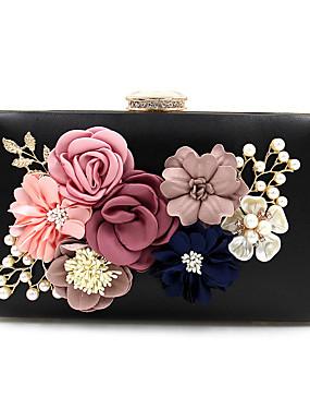povoljno Vjenčanja i eventi-Žene Umjetni biser / Crystal / Rhinestone / Cvijet Večernja torbica Kristalne vrećice od kristalnog kamena Poliester Cvijetni print Light Gold / Lila-roza / Plav