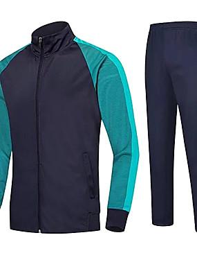 economico Sport di squadra-Unisex Calcio Set di vestiti Traspirante Comodo Calcio Tinta unita Terital Blu marino Azzurro cielo Rosso
