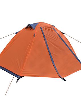 povoljno Sport és outdoor-DesertFox® 1 osoba Šator Vanjski Vodootporno Otporno na kišu Ultra Light (UL) Dvaput Slojeviti šator za kampiranje 2000-3000 mm za Kampiranje Oksford