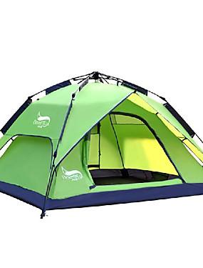 povoljno Sport és outdoor-DesertFox® 4 osobe Automatski šator Vanjski Vodootporno Otporno na kišu Dvaput Slojeviti Automatski Dome šator za kampiranje 2000-3000 mm za Kampiranje Oksford 180*210*118 cm