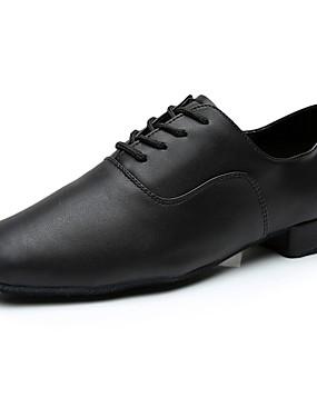 povoljno Kupuj više, štedi više-Muškarci Svinjska koža Cipele za latino plesove Tenisice Potpetica po mjeri Moguće personalizirati Crn / Unutrašnji / EU43