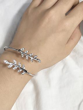 voordelige Manchet Armband-Dames Cuff armbanden Bladvorm Dames Modieus Legering Armband sieraden Zilver / Goud Rose Voor Dagelijks