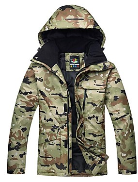 povoljno Sport és outdoor-Muškarci Skijaška jakna Vjetronepropusnost Toplo Skijanje Skijanje Pješačenje Snowboarding Mješavina pamuka Polyester Taffeta Trenirka Skijaška odjeća