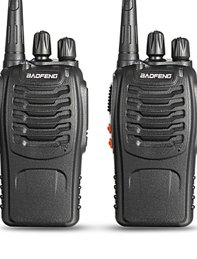 voordelige 40% OFF-BAOFENG 2 Pcs BF-888S Draagbaar Waarschuwing Laag Batterijniveau / Programmeerbaar via pc-software / Spraakverzoek 3km-5km 3km-5km 5 W Walkie Talkie Two Way Radio / 400-470MHz / VOX / Time-out timer