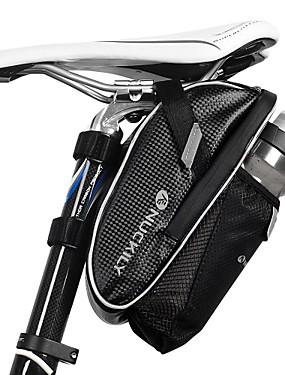 povoljno Sport és outdoor-Nuckily Bike Saddle Bag Zamišljen Biciklizam za Crn Biciklizam / Bicikl / Vodootporni patent