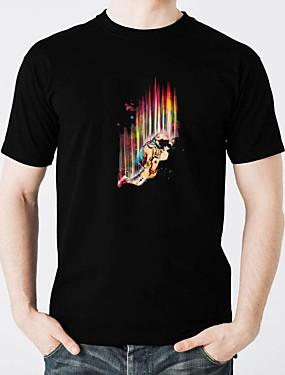 tanie Kostiumy karnawałowe-T-shirty LED Świecące w ciemności Czysta bawełna LED / Casual 2 akumulatory AAA