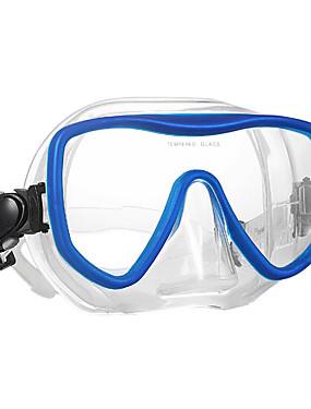 billige Sport og friluftsliv-WAVE Snorkelmaske Vannavvisende To-Vinduer - Svømming Silikon Gummi - Til Voksen Svart / Anti-Tåke / Tørrdrakt - topp
