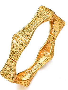 Γυναικεία Γλυπτό Βραχιόλια Χειροπέδες Βραχιόλια Επιχρυσωμένο κυρίες Etnic  Βραχιόλια Κοσμήματα Χρυσό Για Πάρτι Δώρο f01308e1505