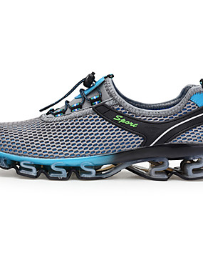 cheap Running & Trail-Men's Running Shoes / Sneakers Rubber Camping / Hiking / Fishing / Running Lightweight, Ventilation, Wearproof Net Dark Blue / Sky Blue / Blue