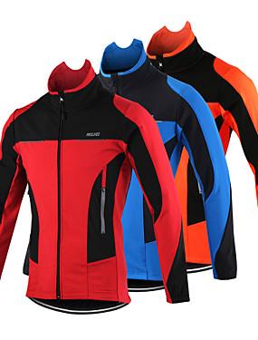 Χαμηλού Κόστους Sport & Outdoor-Arsuxeo Ανδρικά Μπουφάν ποδηλασίας Ποδήλατο Σακάκι Μπολύζες Διατηρείτε Ζεστό Αντιανεμικό Αναπνέει Αθλητισμός Πολυεστέρας Spandex Προβιά Χειμώνας Πορτοκαλί / Κόκκινο / Μπλε / Ανατομικός Σχεδιασμός
