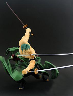 povoljno Igračke i hobiji-Anime Akcijske figure Inspirirana One Piece Roronoa Zoro PVC 20 cm CM Model Igračke Doll igračkama